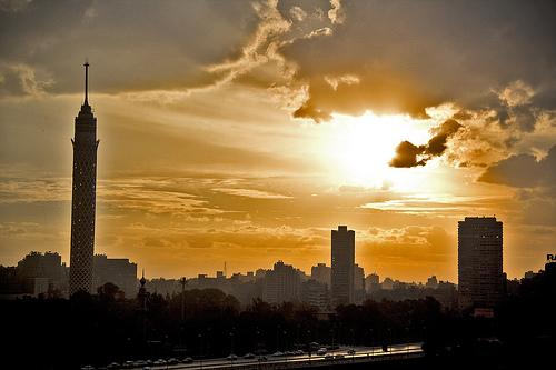 Kair - zachód słońca